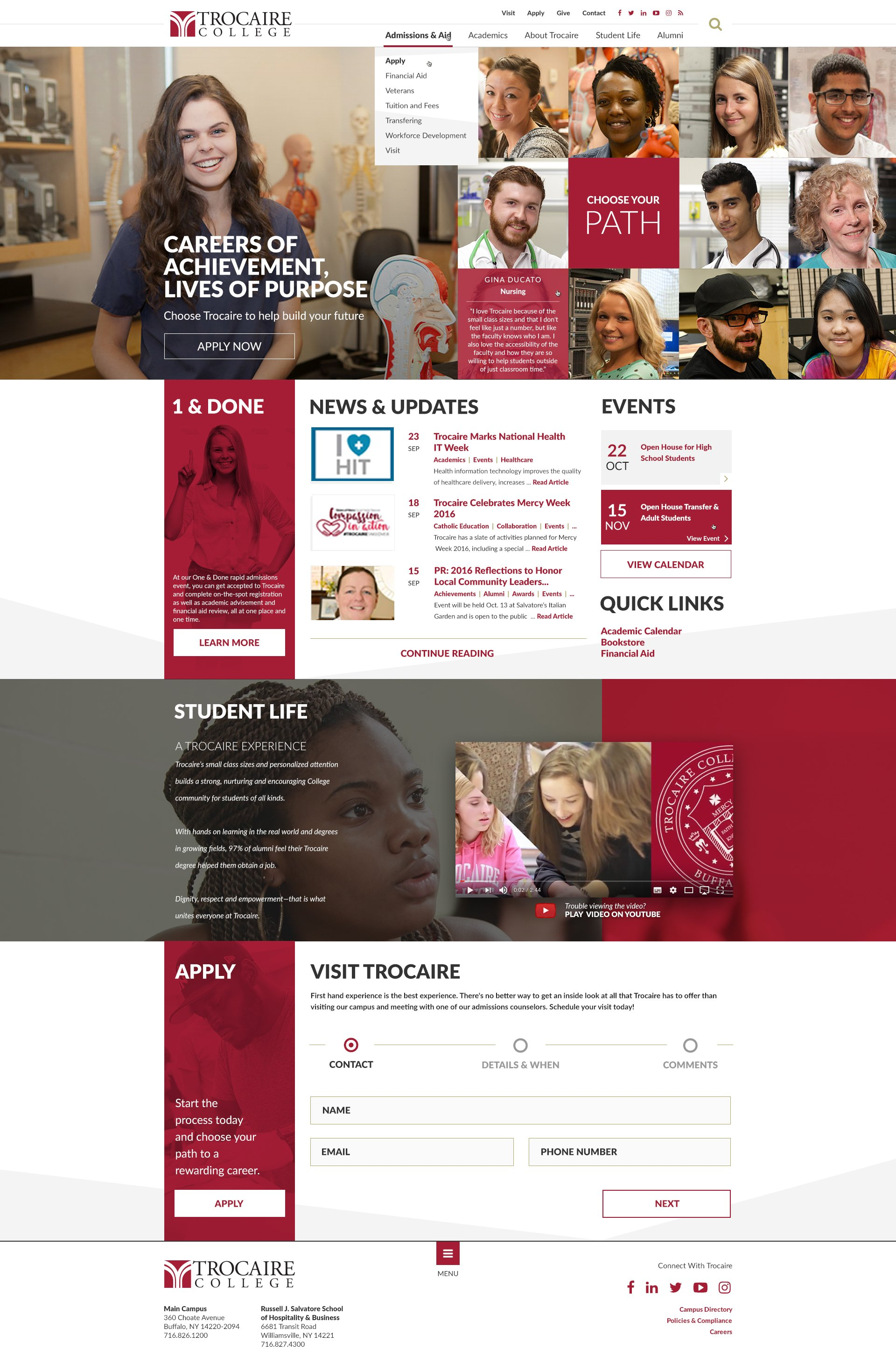 Trocaire College Homepage